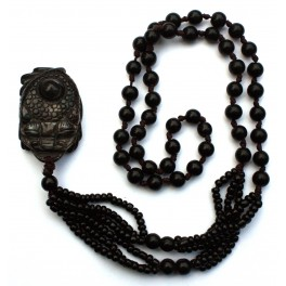 Necklace with agate pendant E