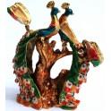 Статуэтка-шкатулка металлическая Два павлина