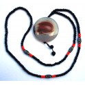 Necklace with agate pendant B