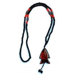 Necklace with agate pendant F