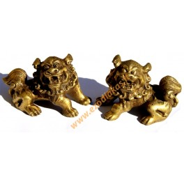 Brass statuettes of the FU DOGS