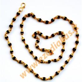 Rudraksha gold plated Mala (54 beads)