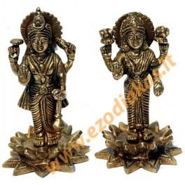 Brass statuette of the LAKSHMI & VISHNU