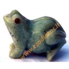 Figurine Jade Frog (with eyes)