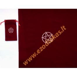 Мешочек для карт таро с ковриком бордового цвета