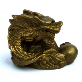 Brass statuette of the DRAGON with pearl