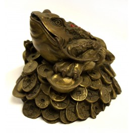 Toad Figurine tridactyl brass