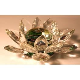 Glass colored lotus diameter of 130 mm